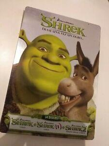 Dvd-SHREK-1-2-y-3-d-erase-una-vez-un-ogro-edicion-de-lujo-4-dvd