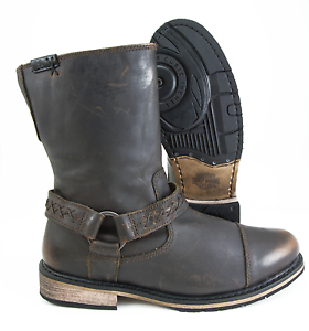 Harley Davidson Mens Constrictor Vintage Brown Leather Motorcycle Boot