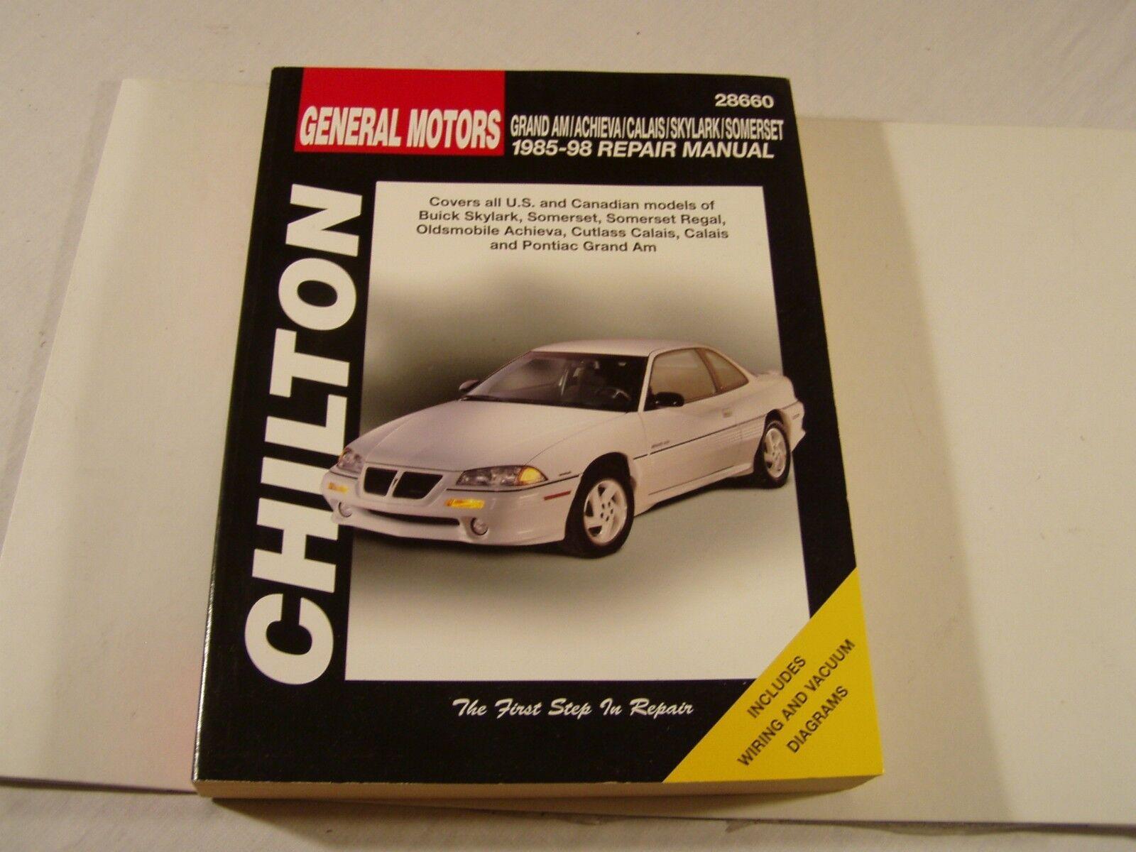 Repair Manual Chilton 28660 Ebay Free Wiring Diagrams For Isuzu Impulse