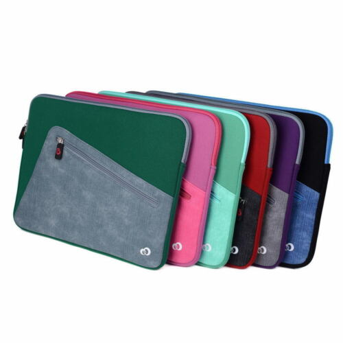 Neoprene Sleeve Cover Case with Front Pocket fit Dell Inspiron 13 7000 2-in-1