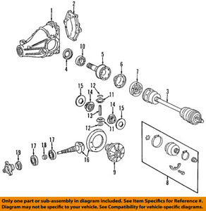image is loading mercedes-oem-03-05-c240-rear-differential-pinion-