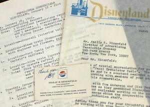 Disneyland-1965-Walt-Disney-Pepsi-Commercial-Archive-Documents-LOT-Business-Card