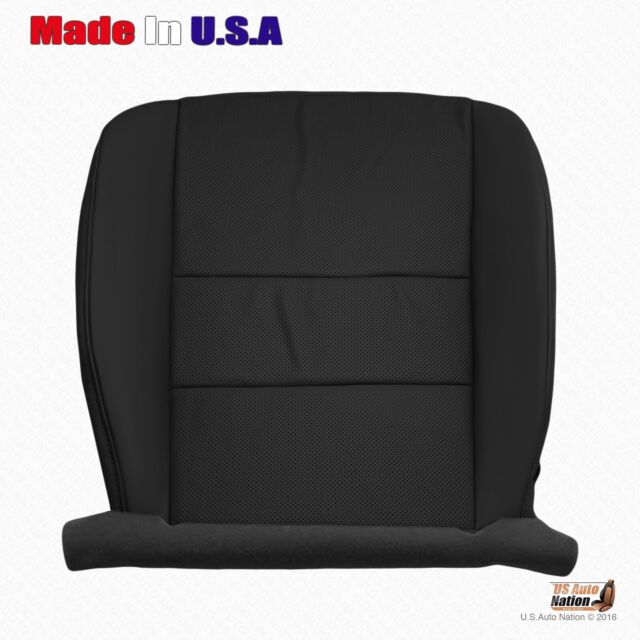Black Driver Side Bottom Perforated Leather Seat Cover