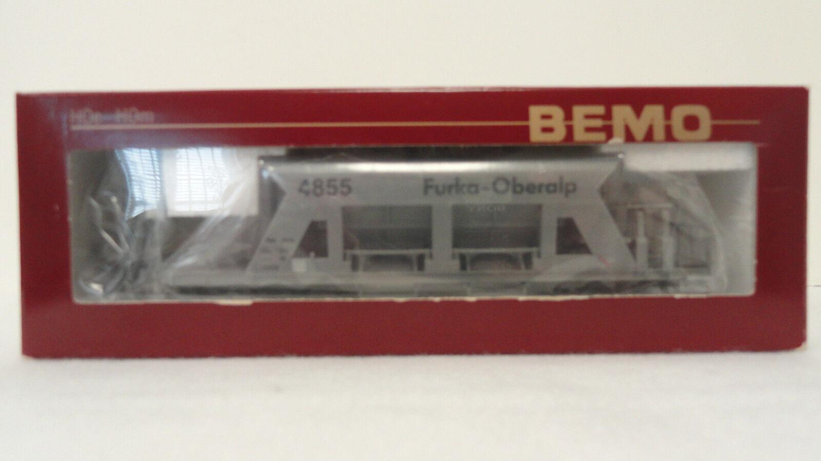 Bemo HOm 2287 215 FO FAD 4855 Kiestransportwagen (gravel car) grau. NIB.
