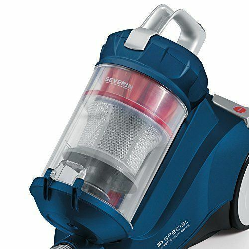 Severin Germany Bagless Canister Wired Carpet /& Hardwood Vacuum Cleaner Blue