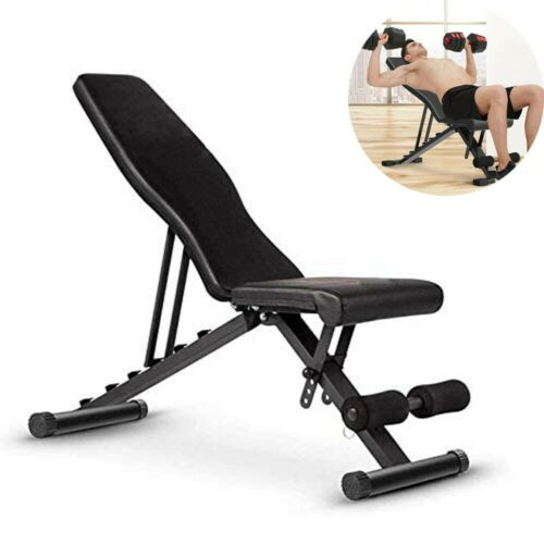 Adjustable Weight Bench Incline Decline Folding Full Body Workout Training Gym