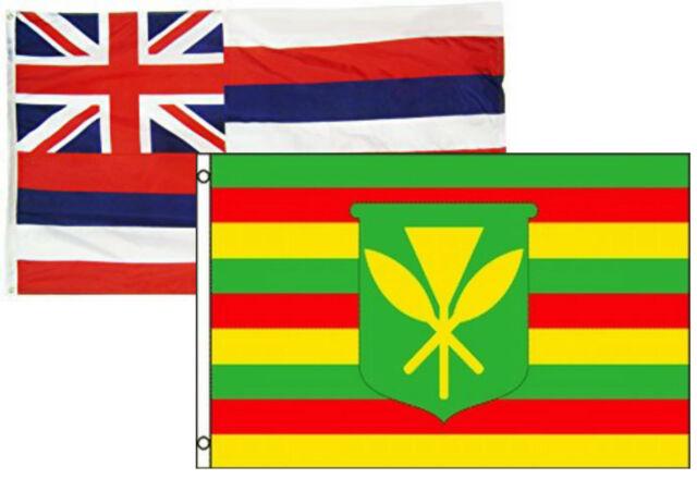 Hawaii State Banner Hawaiian Traditional Flag Size 3/' x 5/'