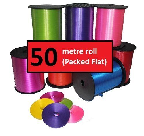 Balloon Curling Ribbon 150 Metre Pick /'n/' Mix Festive Colours 3 x 50m Rolls