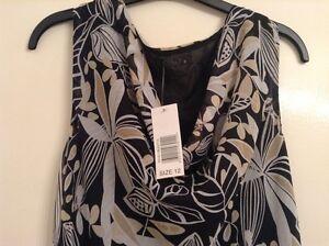 b2ba458c7c BNWT❤️BM ❤️Long Dress -Size 12 Black Beige Floral Bon Marche New ...