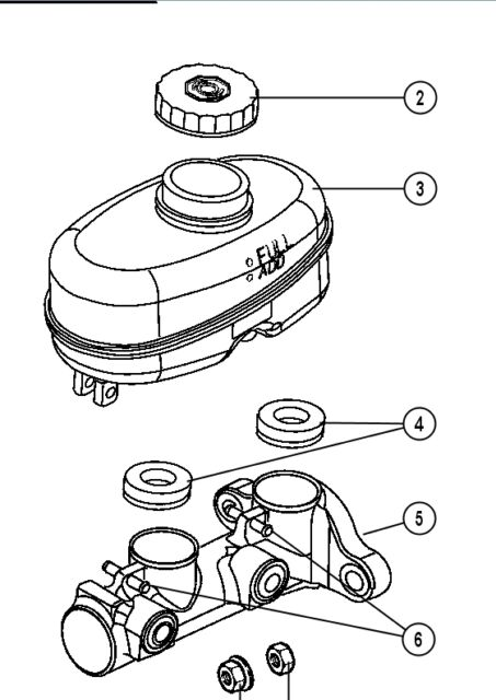 Jeep Wrangler Jk Tj Master Cylinder Cap Oem New 4683656