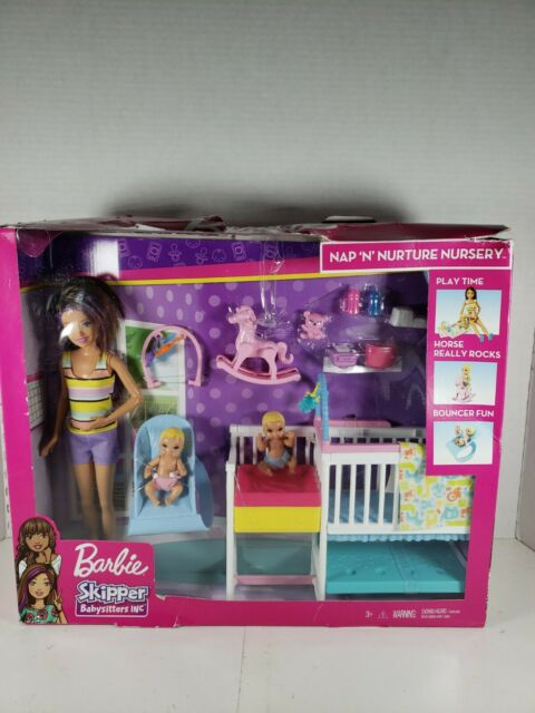 Barbie Skipper Babysitters Inc Nap 'n' Nurture Nursery Playset  ( Damaged Box)