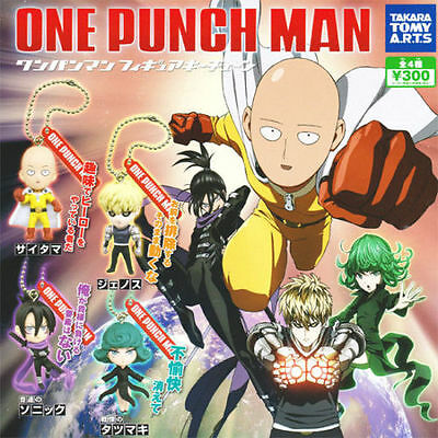 One Punch Man Takara Tomy Gashapon Figure Figurine Keychain P1 Full Set of 4