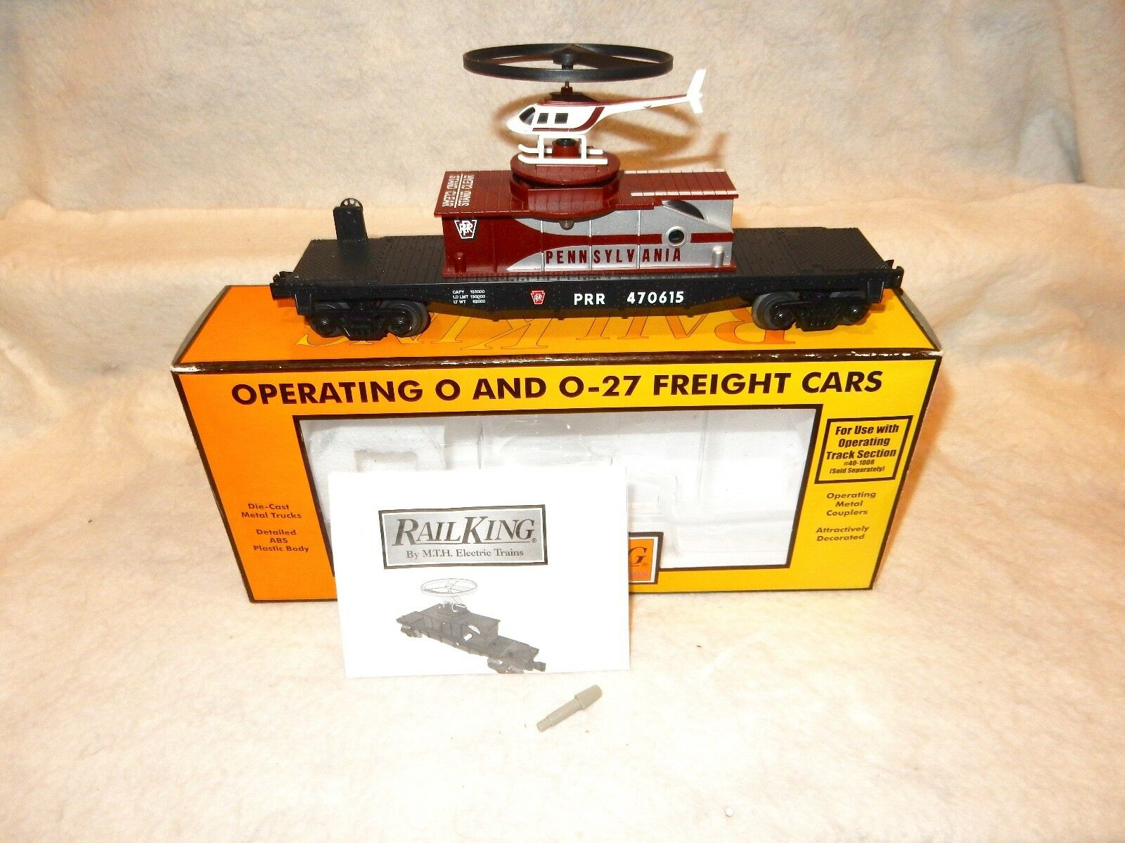 MTH Railre  3079455 Pennsylvania  diecast operating Helicopter autoln w scatola