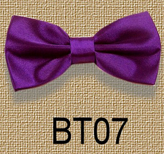 New Men's Solid Bowtie Pre tied Wedding satin bow tie