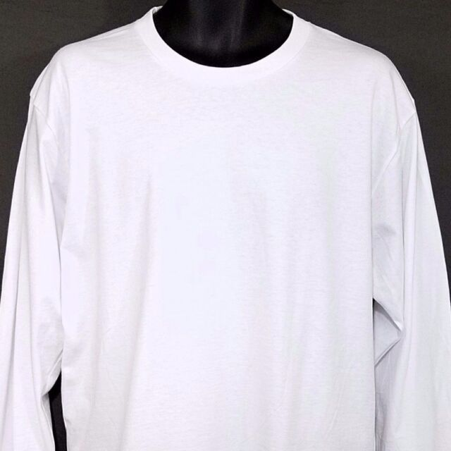 01e0a06a Supreme American Apparel Mens T Shirt Made In USA Wht Blank Tag Cut Size  Large