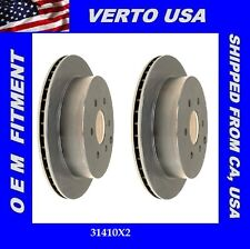 Verto USA Set Of 2 Disc Brake Rotors- Rear  31410X2 Fit Nissan & Suzuki