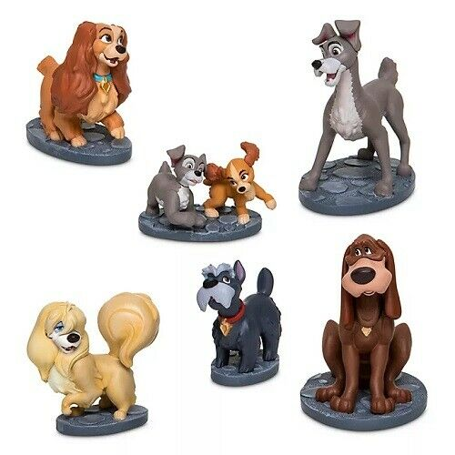 Disney Store Lady and the Tramp Figurine Figure Playset BNIB