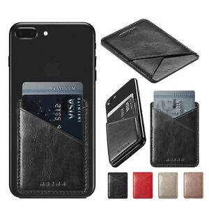 size 40 63a1a 7f71a Details about Credit Card ID Holder For Women & Men Universal Cell Phone  Case Wallet Stick On