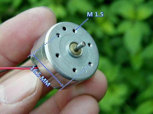 24mm*12mm DC3V 5V 6V 6600RPM Micro RF-300CA Round Solar Power Mute Motor DIY Toy