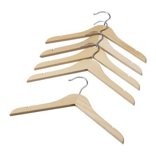 10 Pack IKEA in legno appendiabiti per bambini//Bambino//Kids Clothes Hanger in legno