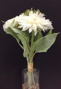 Home Decor Mauve~16~Silk/Artificial Sunflower Bouquet Stems~Flocked Stem/Leaves~Dusty Lt Home, Furniture & DIY