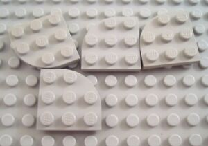 LEGO Lot of 4 Red 3x3 Cut Corner Flat Building Plate Pieces