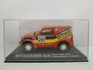 1-43-MITSUBISHI-4X4-PARIS-DAKAR-2001-KLEINSCHMIDT-RALLY-METAL-IXO-ESCALA-DIECAST