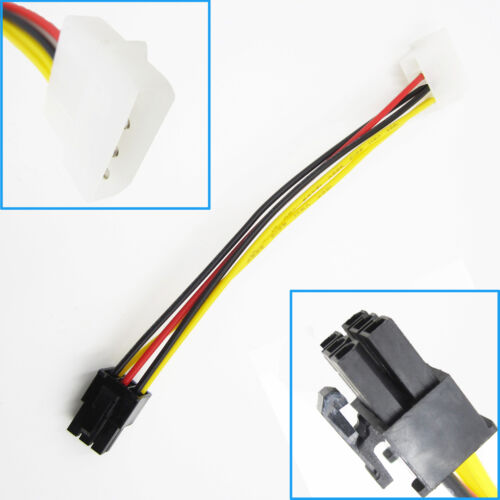 1PCS PCI-E Graphic Card Single 4Pin to 6Pin Power Connector Cable Adapter ASS