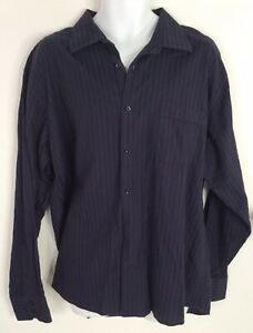 Ben-Sherman-Casual-Shirt-Long-Sleeve-Button-Front-Striped-Mens-XL-17-5-Cotton