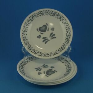 Blue and White Bread and Butter Plate Set Salad//Dessert Plates Set of 4