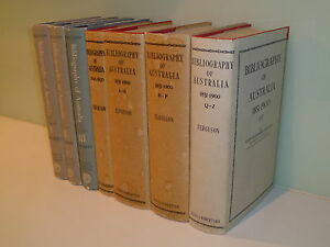 Bibliography-of-Australia-John-Alexander-Ferguson-7-volumes-1784-1900-RARE