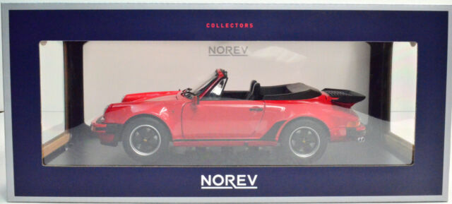 Porsche 911 Turbo Cabriolet Red Year 1987 scale 1:18 From NOREV