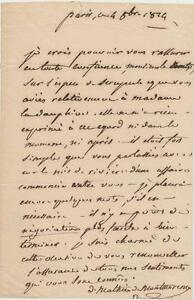 French-diplomat-Mathieu-Montmorency-signed-letter-1824-from-Paris-in-French