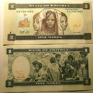 1997. Eritrea. Interesantísimo Billete De 1 Nakfa. Sin Circular. Pick 1 Les Catalogues Seront EnvoyéS Sur Demande