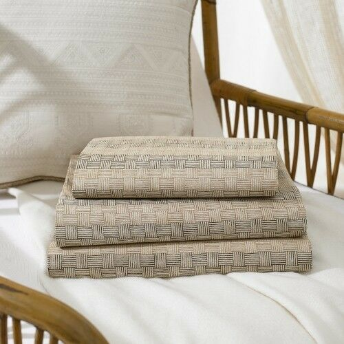 RALPH LAUREN DESERT RETREAT BASKETWEAVE KING PILLOWCASES - NEUTRAL - S 2