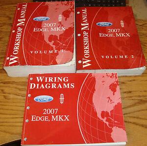 original 2007 ford edge lincoln mkx shop service manual 1. Black Bedroom Furniture Sets. Home Design Ideas