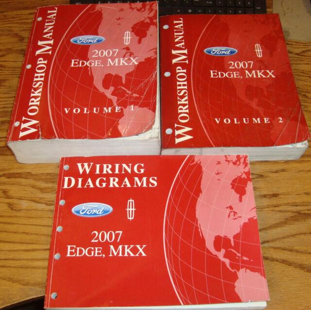Original 2007 Ford Edge Lincoln Mkx Shop Service Manual 1