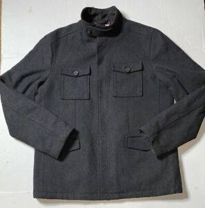 custom limited price fashion Details about Preowned- Original Penguin Wool Blend Peacoat Mens (Size L)