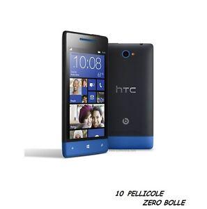 10-Pellicola-Per-HTC-Windows-Phone-8S-Protettiva-Pellicole-LCD-SCHERMO-DISPLAY