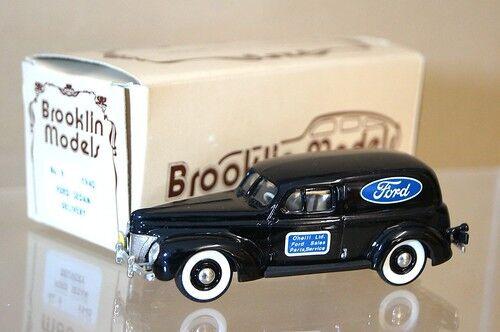 BROOKLIN MODELS 9 1940 FORD DELIVERY VAN FORD O'NIEL LTD MINT BOXED mq