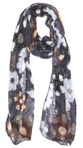 Funky Accessories Ladies Fashion Scarf Winter Scarf Floral Knit Winter Scarf
