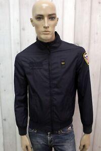 BLAUER-Uomo-Taglia-M-Giubbotto-Blu-Leggero-Giacca-Giubbino-Giaccone-Jacket