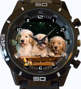 en-or-Retriever-chiots-Neuf-GT-Serie-Sport-Unisexe-cadeau-montre-bracelet