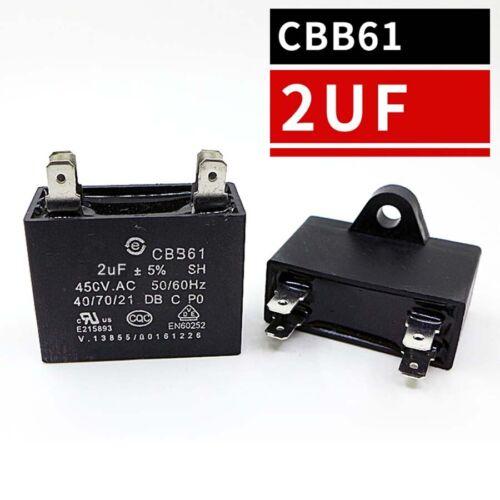 CBB61 Air Conditioning Fan Motor Start Run Capacitors 4-Pin 1.2uF to 12uF 450V