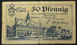 Notgeld-1918-S-M-S-Emden-50-Pfennig-Kaiserliche-Marine-Kreuzer