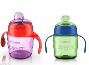 PHILIPS-AVENT-NO-SPILL-EASY-SIP-SPOUT-CUP-200ML-70Z-6M-BOYS-GIRLS-BPA-FREE
