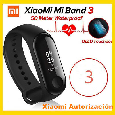 Original Xiaomi Mi band 3 Miband 3 Rastreador de ejercicios deportivos -Global