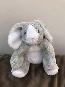 MARKS-AND-SPENCER-M-amp-S-GREY-COSIES-BUNNY-RABBIT-DAISY-SOFT-TOY-COMFORTER-1026-122