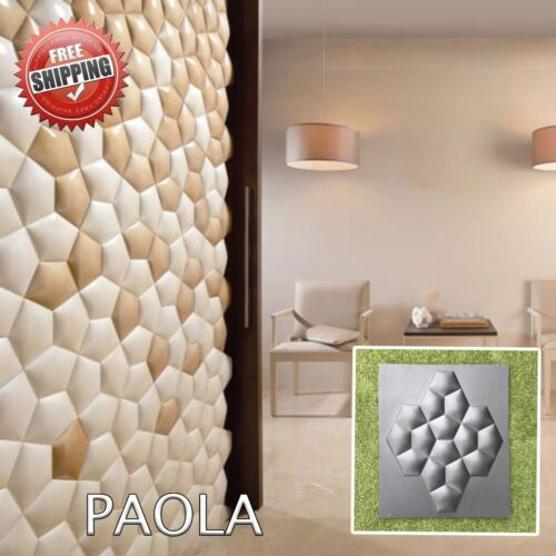 Molds For 3D Tile Panels DIY Plastic Mold Wall Molding Stone Decor Form Plaster