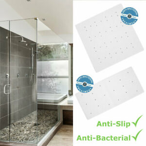 Large Shower Mat Bath White Extra Long Non Slip Anti Mould